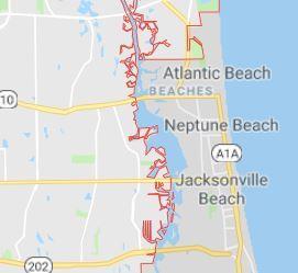 map of jacksonville coastal area