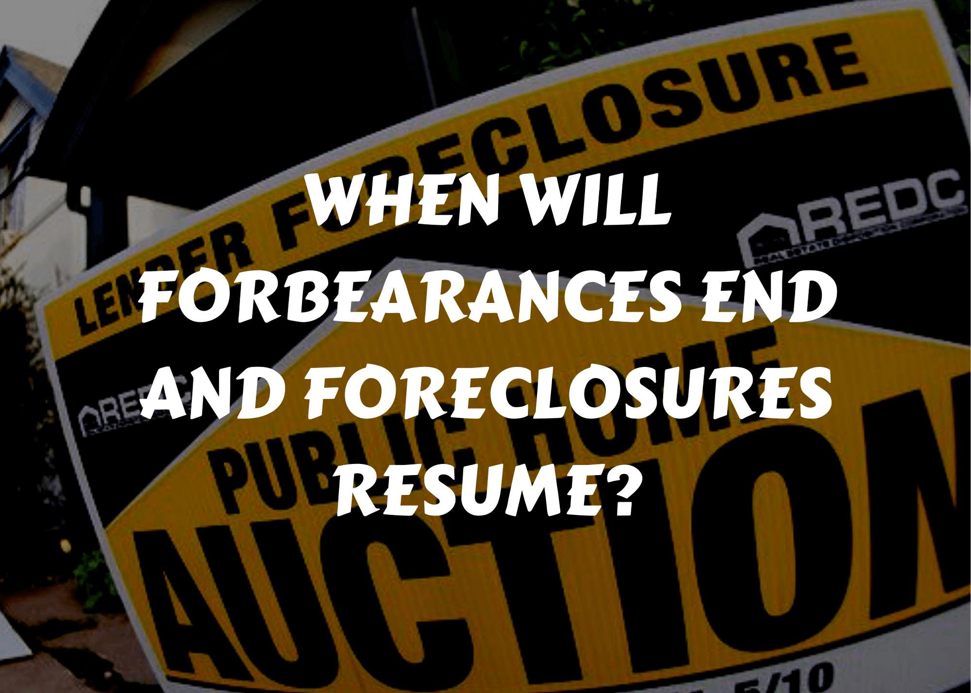when do foreclosures begin